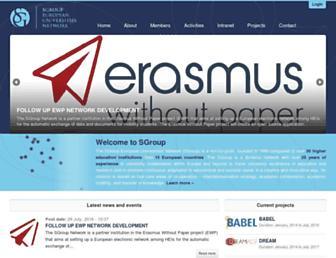 Main page screenshot of sgroup.be