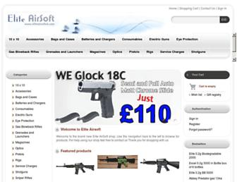 eliteairsoftuk.com screenshot