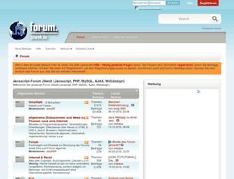 Main page screenshot of forum.jswelt.de