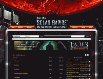 forums.sinsofasolarempire.com screenshot