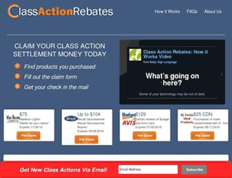 Thumbshot of Classactionrebates.com