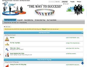 Main page screenshot of kinh-doanh.net