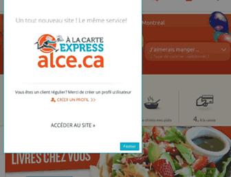 Main page screenshot of alce.ca