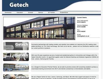 getech.co.uk screenshot