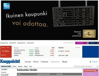 Main page screenshot of keskustelu.kauppalehti.fi