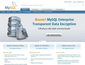 Main page screenshot of mysql.it