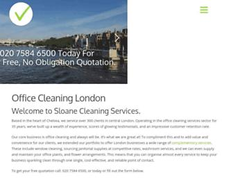Main page screenshot of sloanecleaning.co.uk