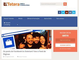 Main page screenshot of teteraconsultoria.com.br