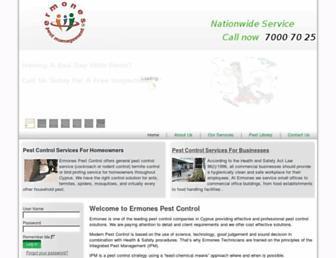Main page screenshot of ermones.net