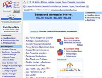 Main page screenshot of bau.net