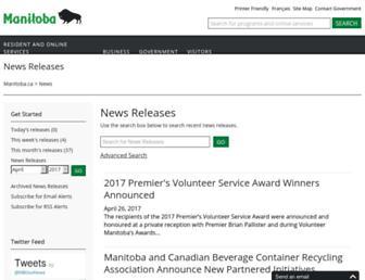 news.gov.mb.ca screenshot