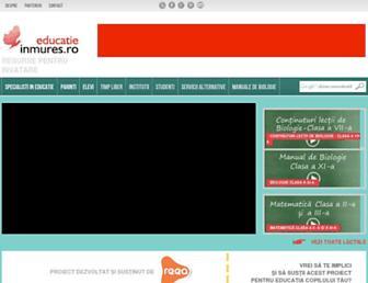 educatie.inmures.ro screenshot