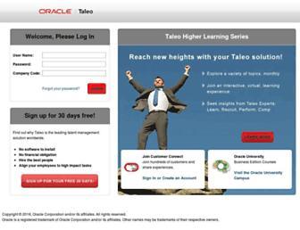 chj.tbe.taleo.net screenshot