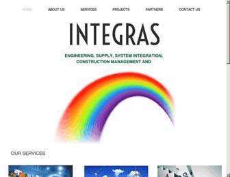 Main page screenshot of integras.co.uk