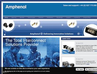 amphenol.co.uk screenshot