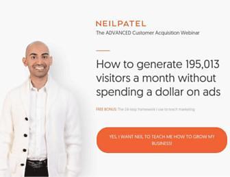 neilpatel.com screenshot