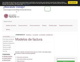 modelofactura.net screenshot