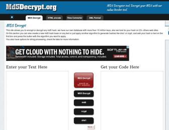 Thumbshot of Md5decrypt.org