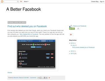 abetterfacebook.blogspot.com screenshot