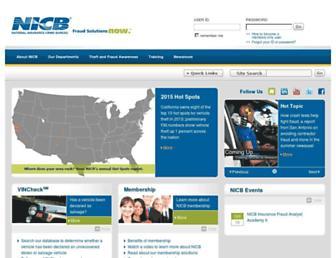 nicb.org screenshot