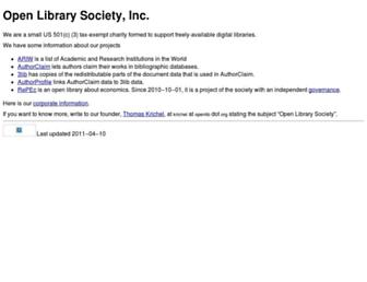 openlib.org screenshot