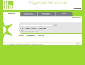 hkr.diva-portal.org screenshot