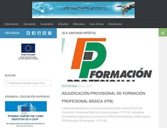 Main page screenshot of iessapostol.juntaextremadura.net