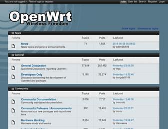 forum.openwrt.org screenshot