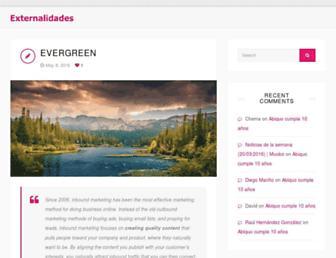 Main page screenshot of externalidades.net