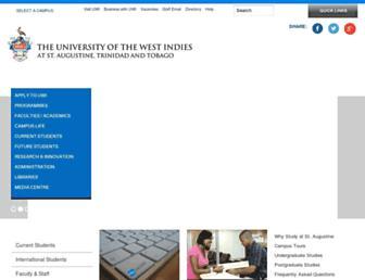 sta.uwi.edu screenshot