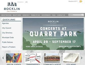 rocklin.ca.us screenshot