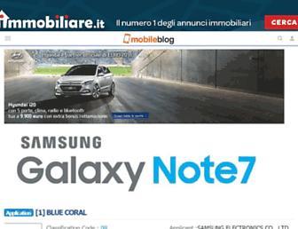 Main page screenshot of mobileblog.it