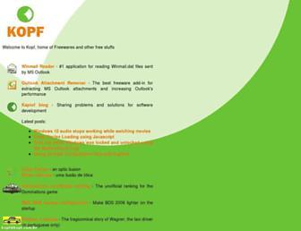 kopf.com.br screenshot