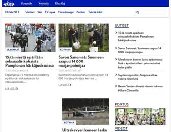 Main page screenshot of elisanet.fi