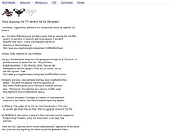 ftp.gnu.org screenshot