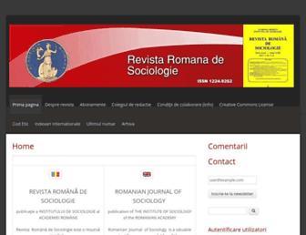 revistadesociologie.ro screenshot