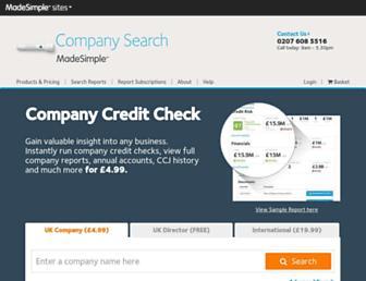 companysearchesmadesimple.com screenshot