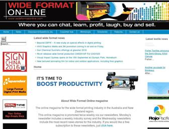wideformatonline.com screenshot