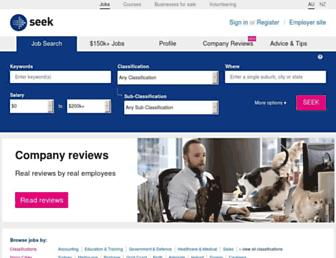 seek.com.au screenshot