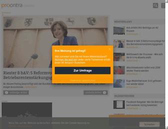 Main page screenshot of procontra-online.de