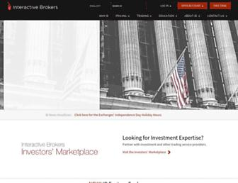 Thumbshot of Interactivebrokers.com