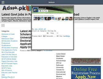 adspk.pk screenshot