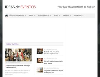 ideasdeeventos.com screenshot
