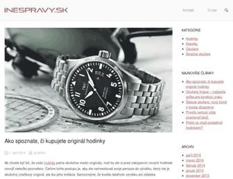 Main page screenshot of inespravy.sk