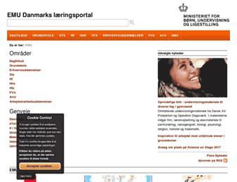Main page screenshot of emu.dk