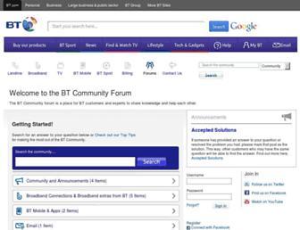community.bt.com screenshot