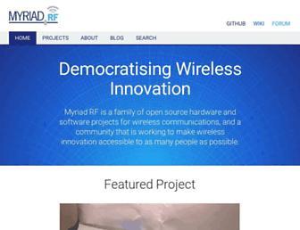 myriadrf.org screenshot