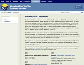 wwwconference.org screenshot