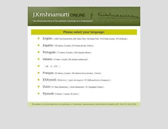 jkrishnamurti.org screenshot