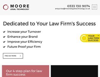 moorelegaltechnology.co.uk screenshot
